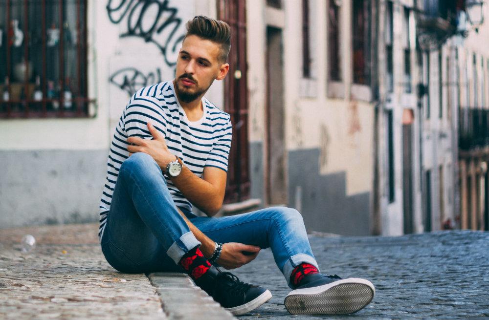 meias masculinas coloridas